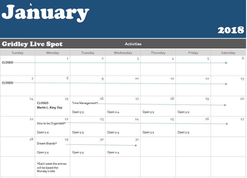 gls jan calendar